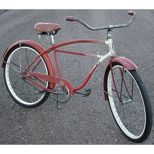 This is kind of what my bike looks like, except the handle bars are much more swoopy, and.. okay it looks nothing like this.
