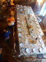 The massive table at Granon