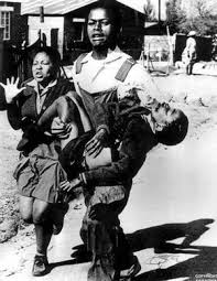A famous image of Hector Pieterson shot down by security police in the 1976 Soweto student protests