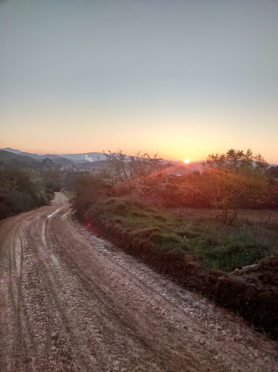 The light coming up on the Camino
