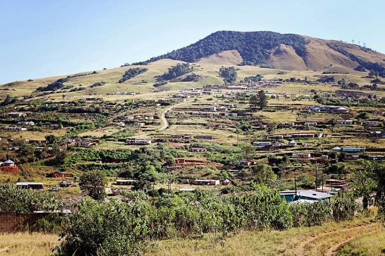 Mbubu mountain (also called Swartkop). This is the hill that is in the painting I use for my banner. :) It is the hill that overlooks all of Sweetwaters/Mpumuza