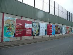 Peace walls in Ireland (Catholic and Protestant)