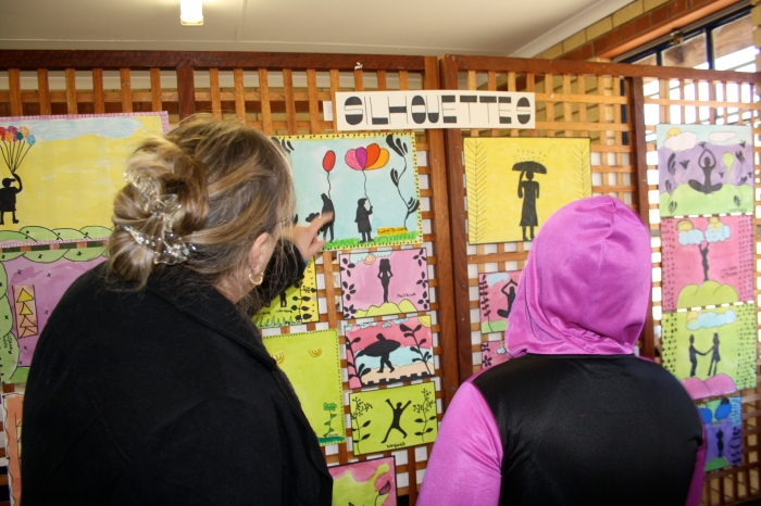 Visitors from the Hilton community also came to see the art.