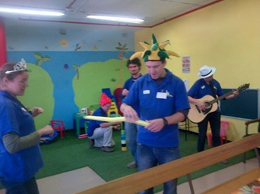 Getting balloon animals ready! Also, funny hats. The normal kids ward has a great play area we could use.