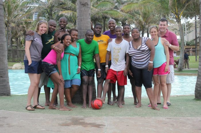 The iThemba team...and the ball that made people think we were professional volleyball players??