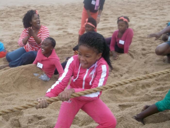 Tug of War on the beach is always fun