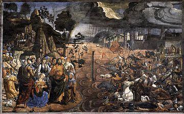 The crossing of the Read Sea, Sistine Chapel (wikipedia)